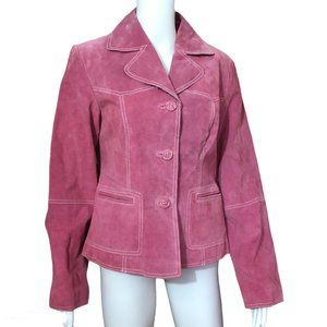 Jessica Pink Suede Leather Jacket